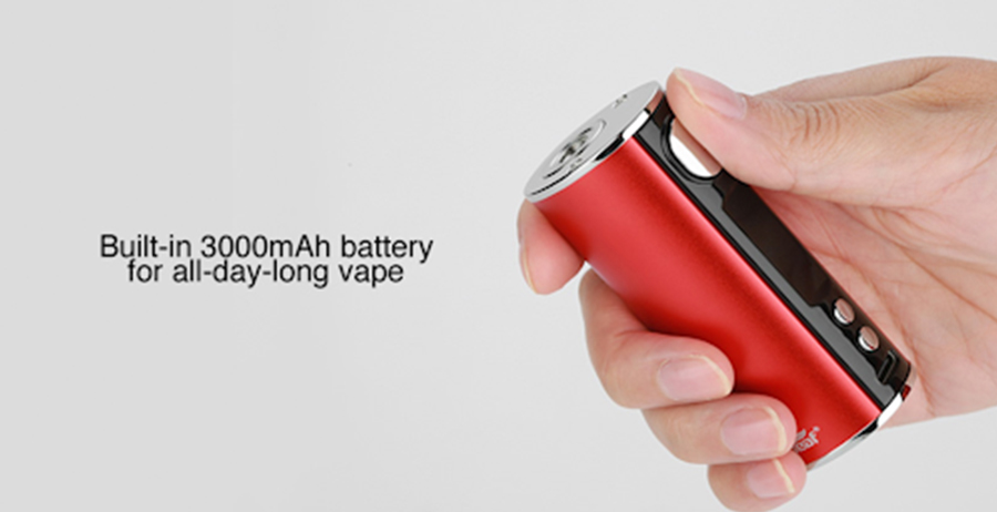 The iStick T80 sub ohm vape mod features a built-in 3000mAh battery and is capable of an 80W max output which can be adjusted to the user's preference.