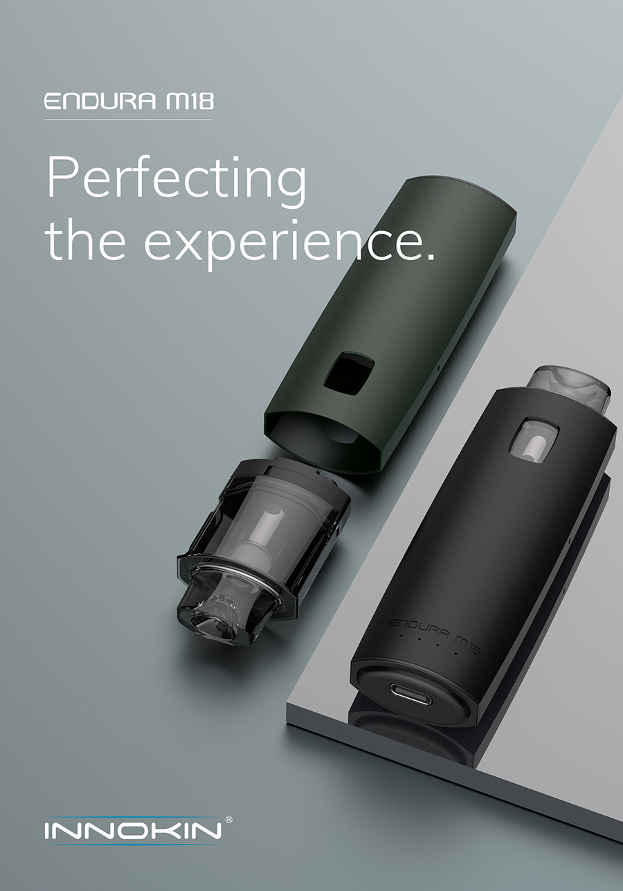 The 2ml Endura M18 replacement pods feature an adjustable airflow feature by rotating the pod, as well as a side fill method.