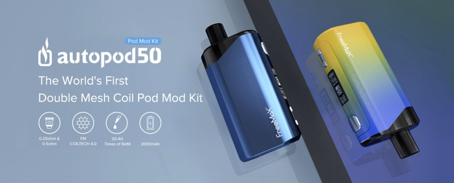 The Freemax Autopod 50 is a sub ohm pod kit that combines a sleek design with simple function, making it ideal for those who have just started sub ohm vaping.