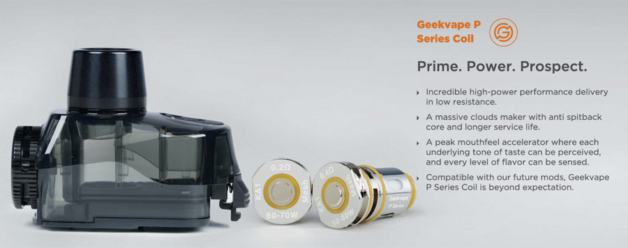 The GeekVape Aegis Pro Kit is compatible with the classic Boost coils as well as the newly designed P coil series.