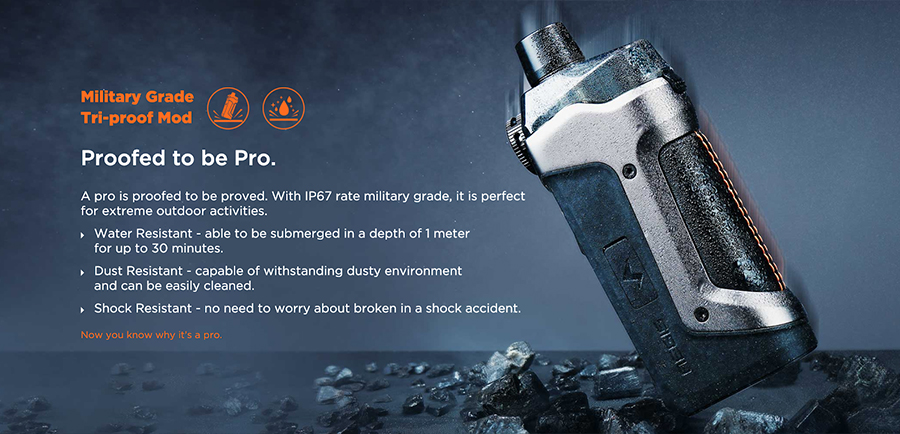 Thanks to waterproof, dustproof and shockproof protection, the Aegis Pro kit is hard wearing wherever you are.
