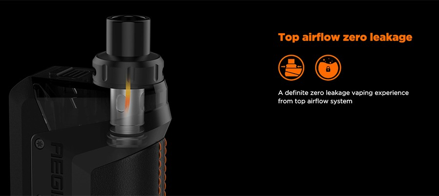 The Aegis Hero 2ml pods feature a top adjustable airflow system, providing a zeo leakage system with versatility for users to configure their inhale.