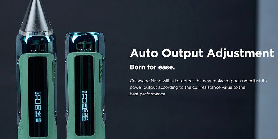 Thanks to Smart mode you won't ever select the wrong wattage, the Aegis Nano recognises which coil has been installed and selects a wattage for you.