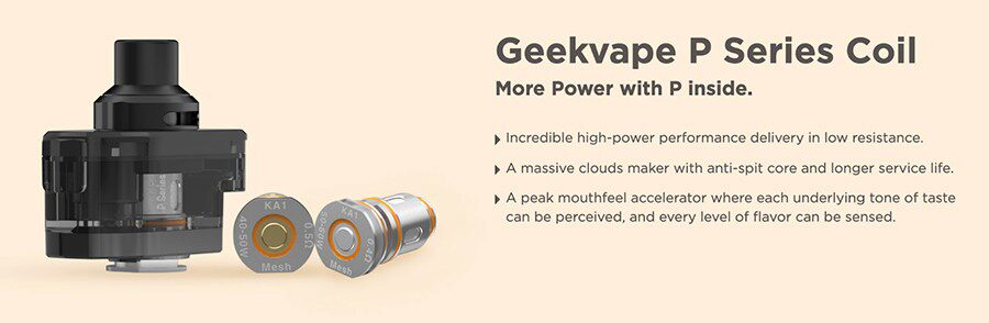 The GeekVape P coils feature a mesh build and can heat more e-liquid at a faster rate for improved vapour and flavour production. The ideal choice for the Obelisk pod kit.