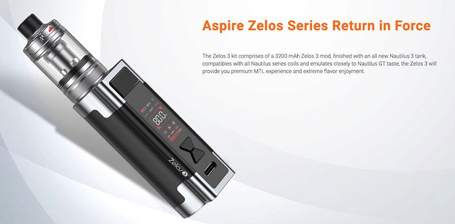 Combining customisation with a small design, the Aspire Zelos 3 is the ideal option for MTL vaping.