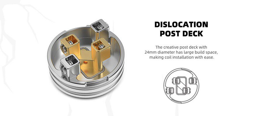 Featuring a four-post drop deck, the HellBeast rebuildable by HellVape will support dual coil builds and can be used for MTL & DTL vaping.
