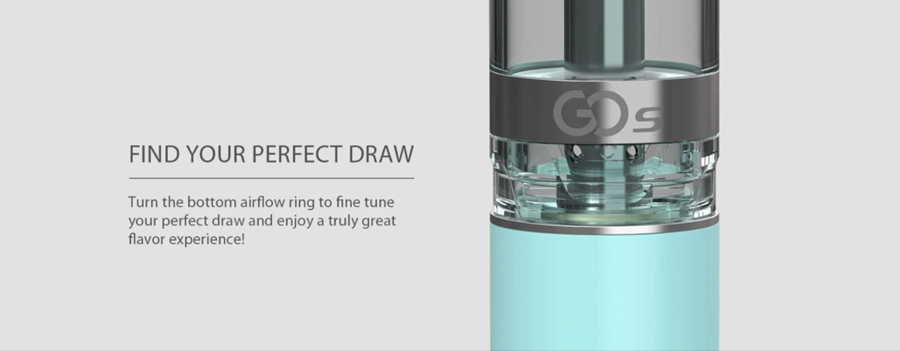 Fitted with an adjustable airflow, the Innokin GO S tank can be used to discover your perfect inhale.