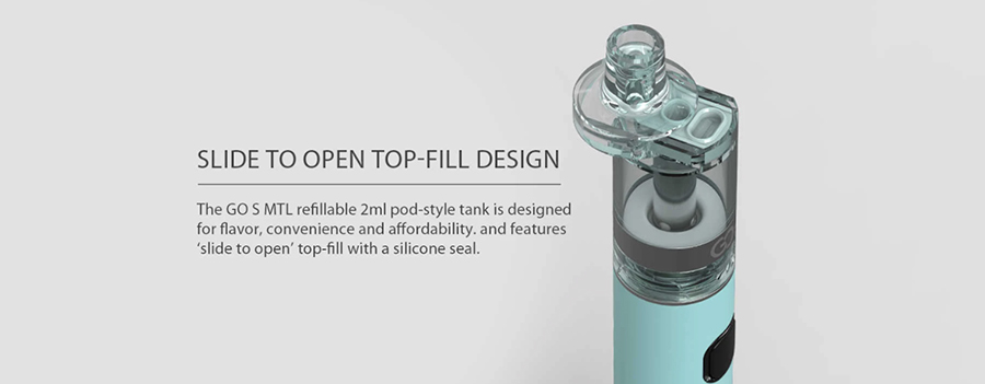 The Innokin GO S disposable tank combines a lightweight and durable build with a simple design.