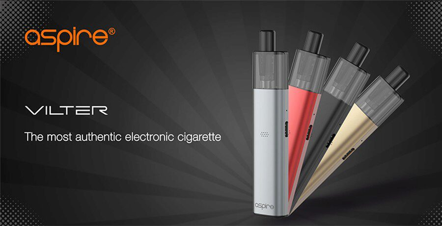 The Aspire Vilter kit is a compact pod that's been designed to feel closer to a cigarette.