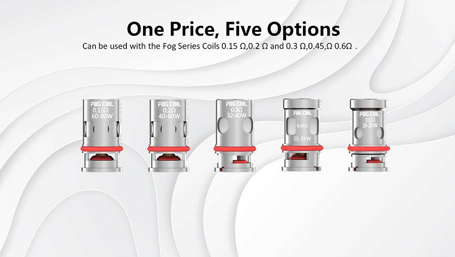 You can use the Sigelei Fog coils to customise your Fog Stick and discover your ideal vape.
