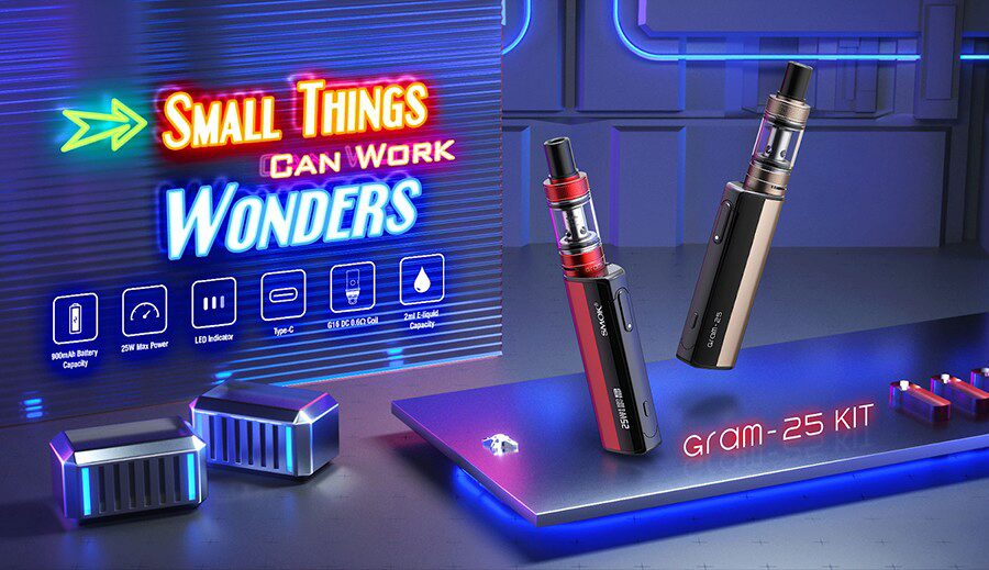 The Gram-25 kit by Smok is a simple option that's ideal for MTL vaping.
