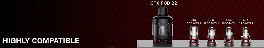 You can pick a coil from the wide GTX coil range and discover your new perfect vape.