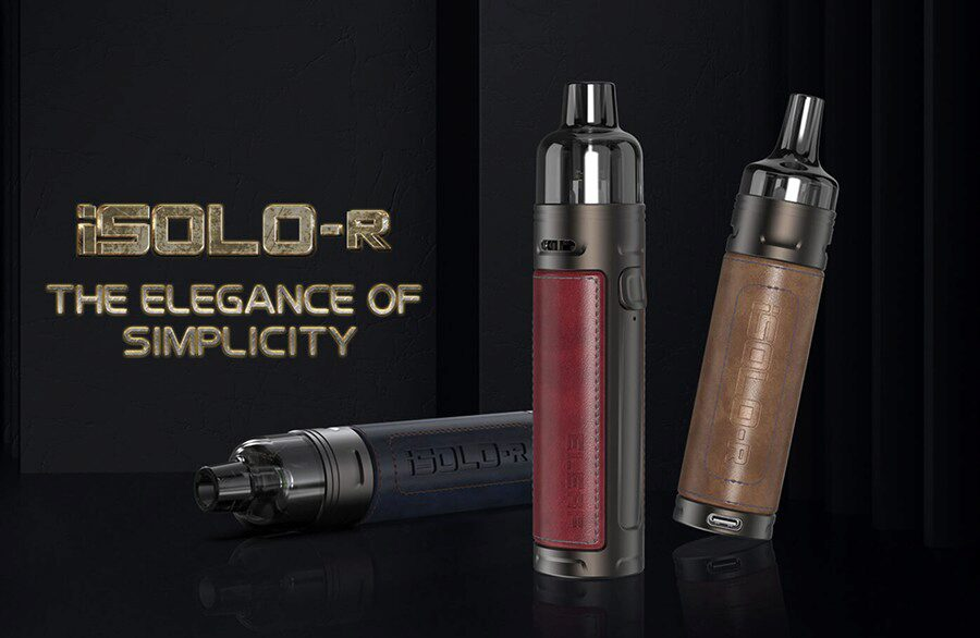 The Eleaf iSolo R pod kit is small and simple, making it the ideal choice for new starters and anyone looking for a more compact option.