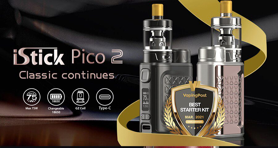 Compact and simple to use, the Eleaf iStick Pico 2 starter kit offers a high power output and a range of compatible coils.