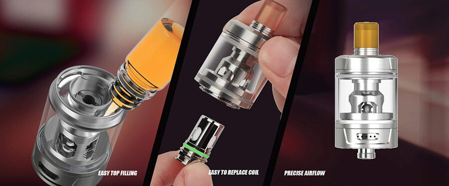 The GZeno S tank offers a simpler approach to vaping and features coils for MTL and RDTL vaping.