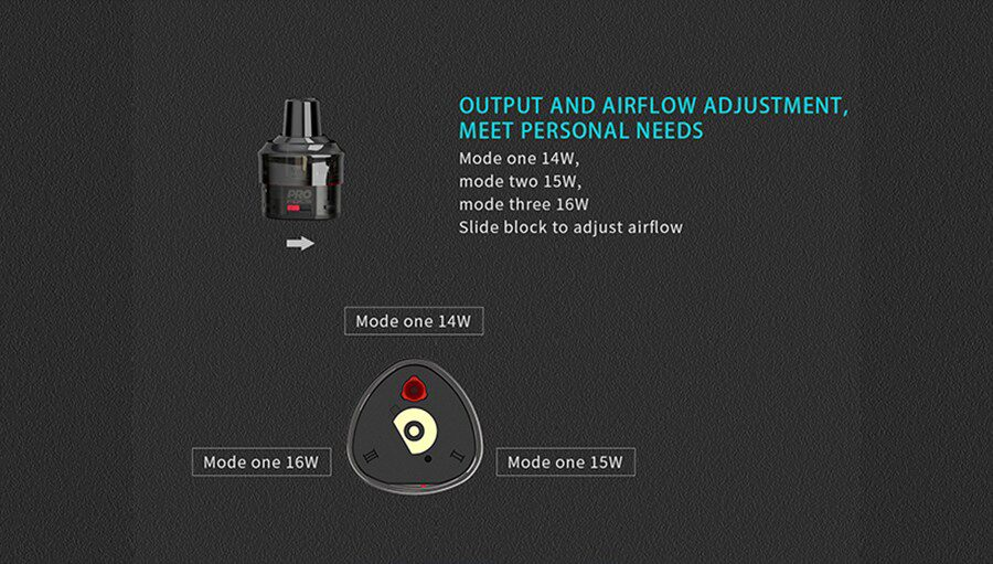 Select your preferred wattage level by rotating the pod and inserting it into the T1 vape kit.