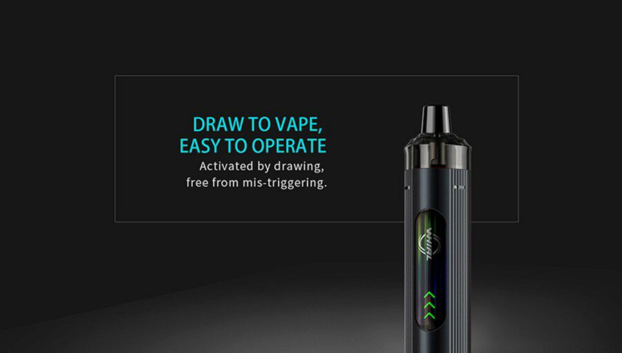 Inhale activation means a simpler vape all-round and one that feels more like a cigarette.