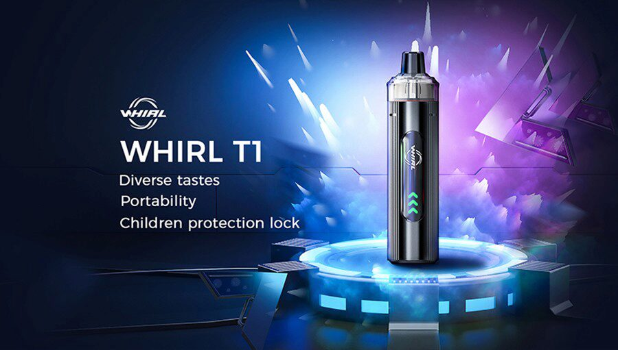 Small, simple, and designed to be a more reliable option, the Uwell Whirl T1 pod kit is ideal for new vapers.