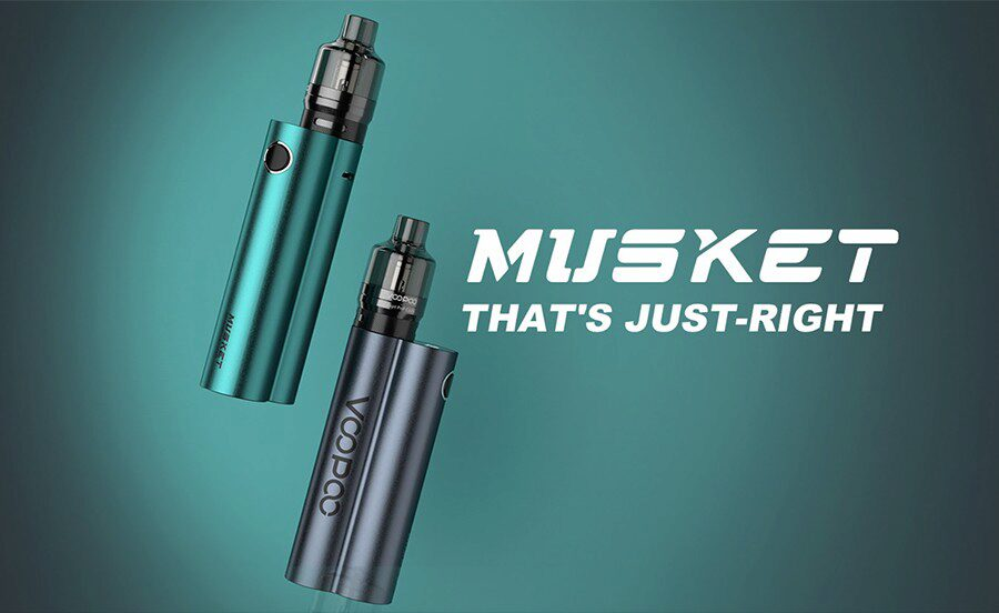 The Musket sub ohm kit by VooPoo combines a small build with a high, 120W output for a quality DTL vape.