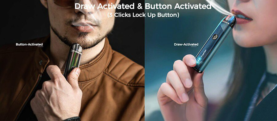Take your pick from either inhale activation or single button operation for a vape that suits you with the Freemax Onnix 2 vape pod kit.