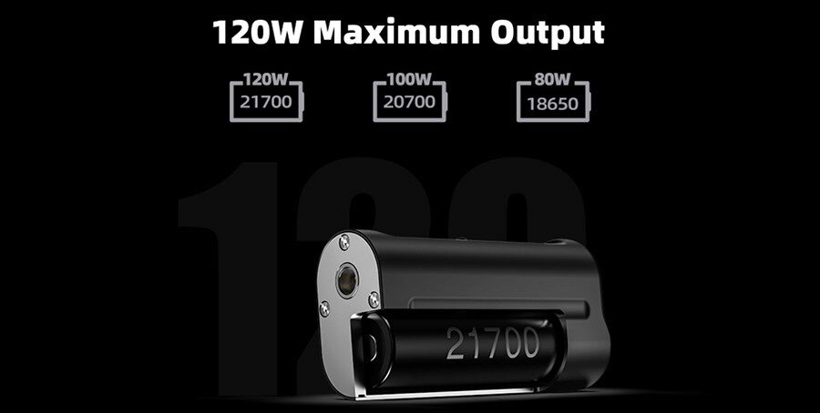 Experience up to 120W of power with the HellVape Arez sub ohm mod. You can pair this mod with your choice of a 18650, 20700 or 21700 battery.