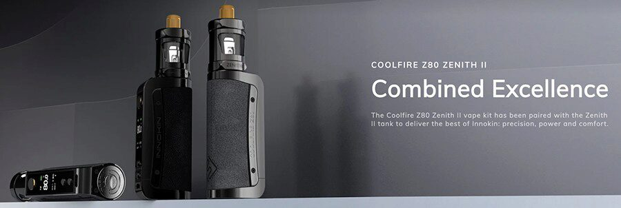 Supporting MTL & DTL vaping, the Coolfire Z80 Zenith II vape kit is capable of an 80W max output and offers a range of features including Variable Wattage.