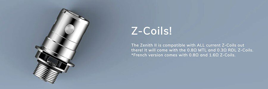 Experiment with the Zenith coils and discover your perfect vape, the Innokin Zenith II tank includes two to get you started.