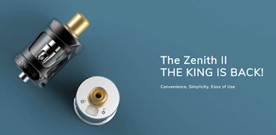 Supporting MTL and DTL vaping, the Innokin Zenith II vape tank is a versatile option that can be paired with a wide range of mods.