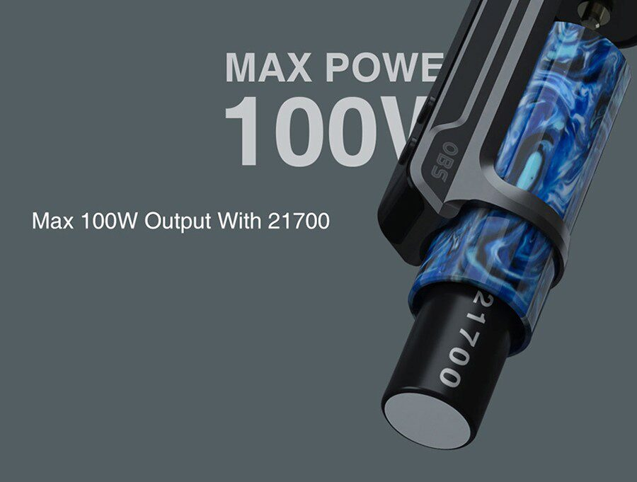 Experience more power with the OBS Engine S' 100W output and experience MTL or DTL vaping.