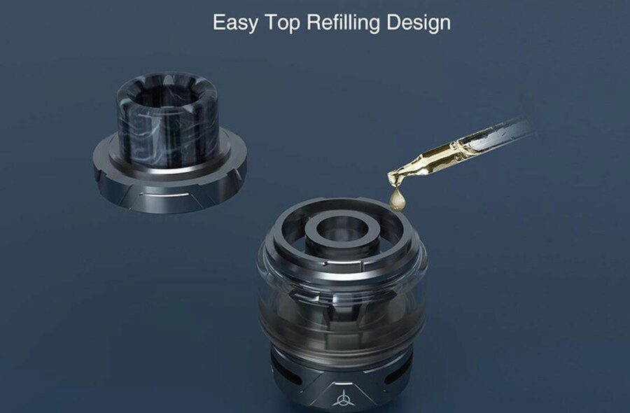 Experience quick and clean refilling with the OBS Engine S sub ohm tank and its top filling capabilities.