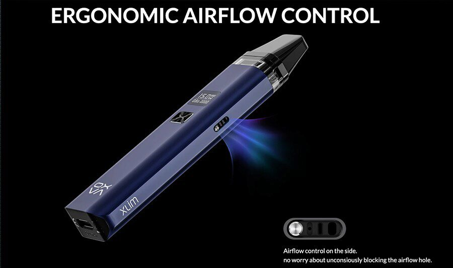 Take your pick from a tight or loose inhale with the adjustable airflow that features on the Xlim pod vape kit