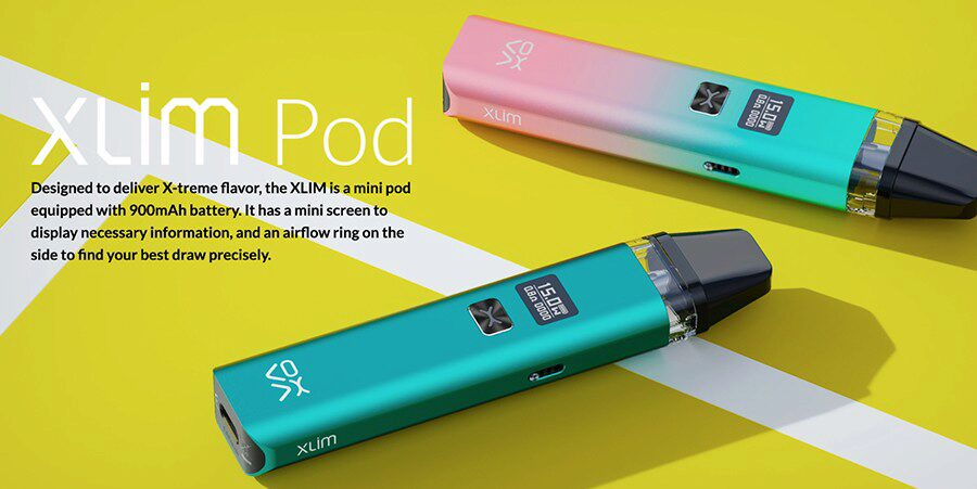 Ideal for first-time vapers, the OXVA Xlim pod vape kit is a simple and compact option.