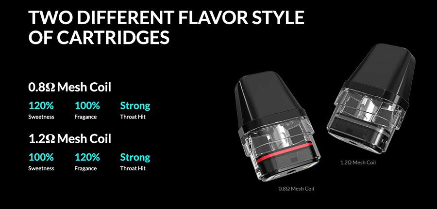 Thanks to the built-in coil design on Xlim pods, there's no messy coil changes and the mesh build delivers better flavour.