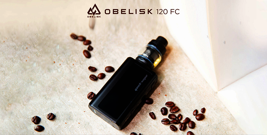The GeekVape Obelisk FC sub ohm kit delivers a high wattage output and a battery that lasts longer between charges.