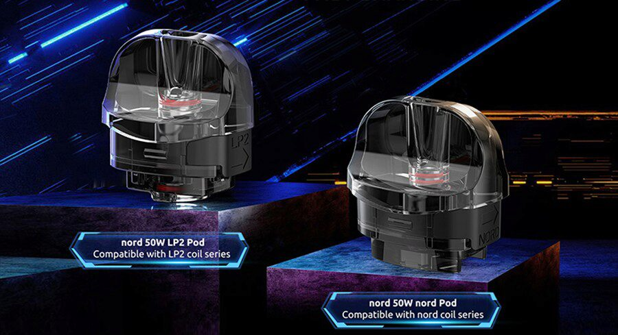 Offering more opportunities for customisation. The Nord 50W has had three different pods designed for it.