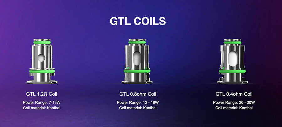 Swap between MTL and DTL vaping with the Eleaf GTL coil range.