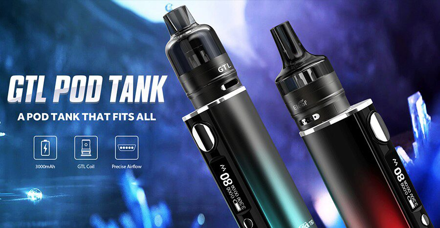 The Eleaf iStick GTL T80 kit is a simple kit option that combines a lightweight build with the option of MTL and DTL vaping.