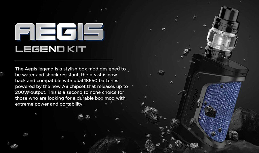The GeekVape Aegis Legend is a durable and powerful vape kit that has been designed for sub ohm vaping.