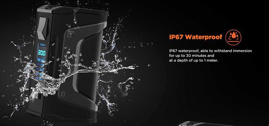 featuring waterproof, dustproof and shockproof properties, the GeekVape Aegis Legend kit is very durable.