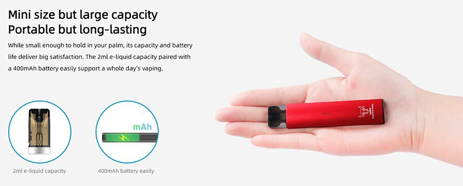 Featuring a 400mAh battery, the Upends UpOx can last all day while remaining a portable option.