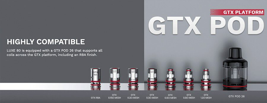 take your pick from a wide selection of compatible MTL and sub ohm coils that deliver your perfect vape.