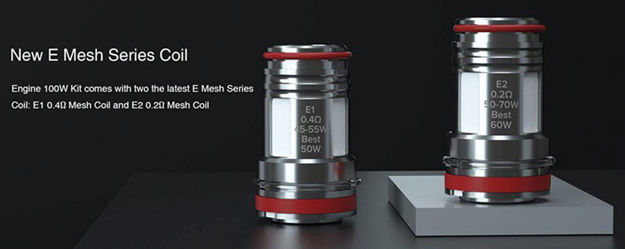 The compatible mesh coils produce better flavour from e-liquid and are available in two resistances for a vape that suits your style.
