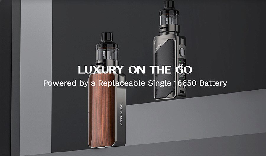 The Luxe 80 sub ohm pod kit by Vaporesso is a compact vape kit that's simple to use.
