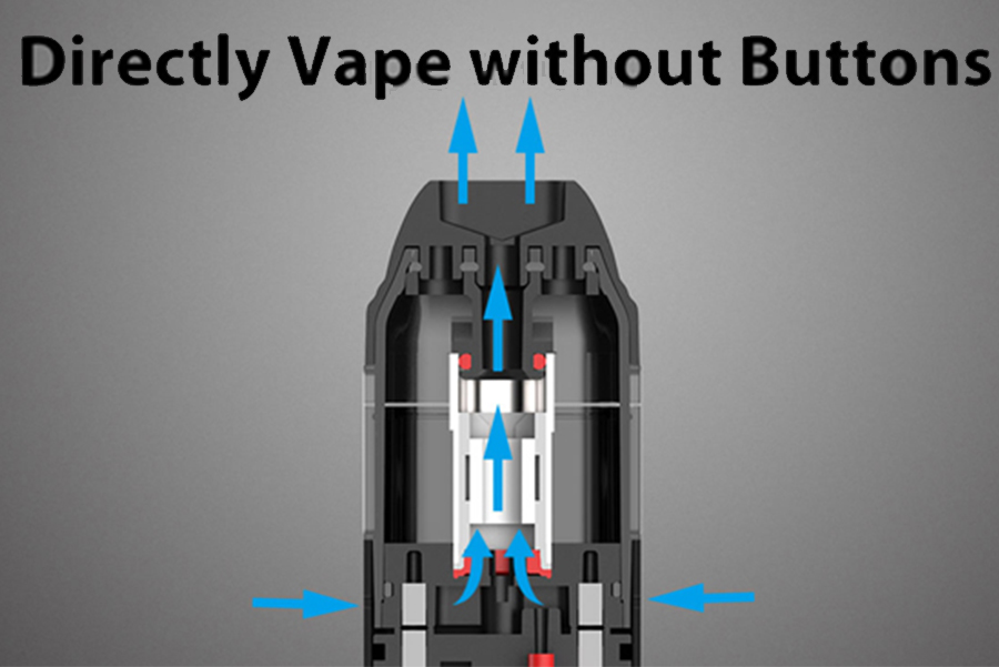 The Uwell Caliburn features inhale activation courtesy of air pressure sensors