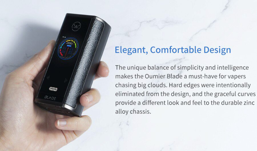 The Oumier Blade 200 mod is sub ohm and creates big clouds, while being simple to use.
