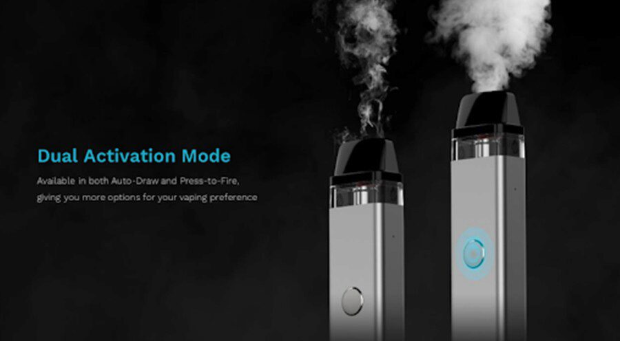 The option of single button activation and inhale activation gives you more options on how to use your XROS Mini 2 kit.