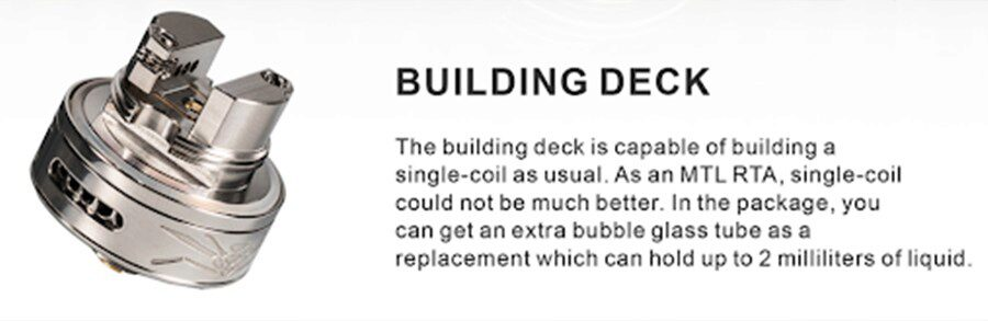 Designed to support a wide range of MTL coils, fitting your coils is easier than ever thanks to the clamp deck design.
