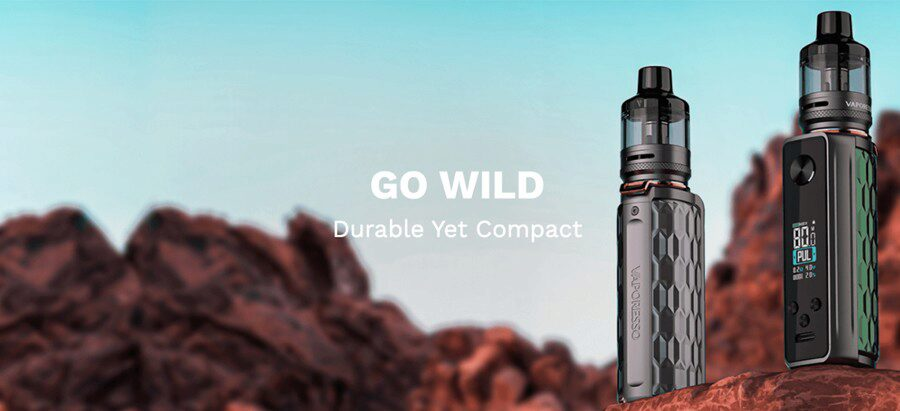 The Vaporesso Target 80 pod kit is durable and designed to be sturdy and water resistant.