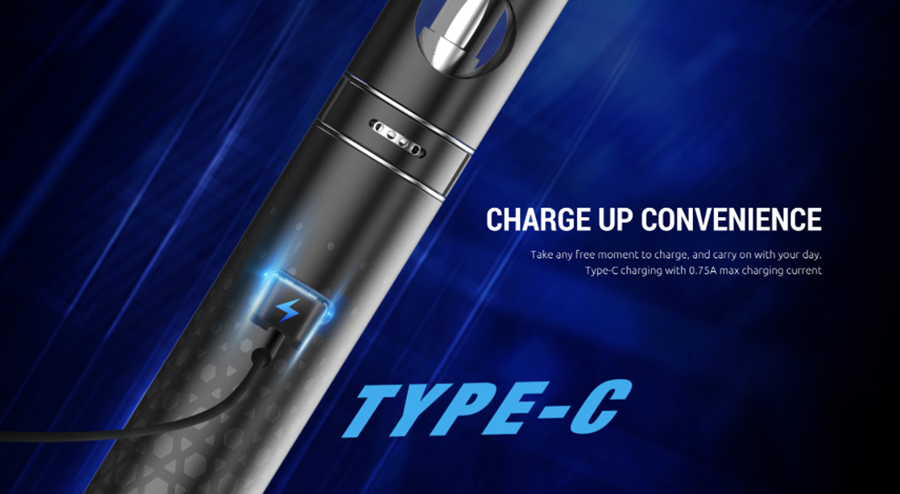 Recharge your Smok R22 vape pen quickly thanks to the USB-C port.