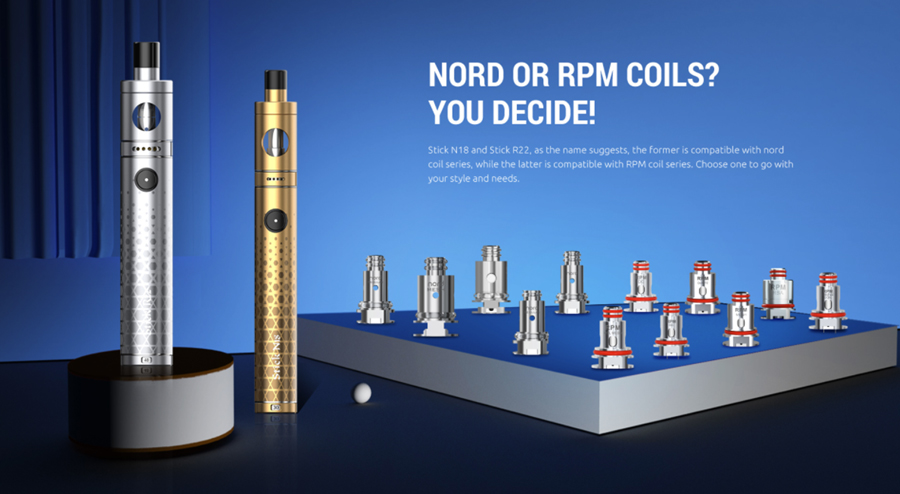 Take your pick from a wide range of compatible coils, the Smok R22 vape pen kit can be used with the Smok RPM coils.